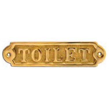 FS Plaque laiton toilet