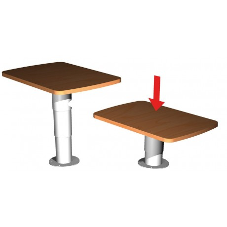 pied de table t lescopique v rin gaz pour camping car et. Black Bedroom Furniture Sets. Home Design Ideas