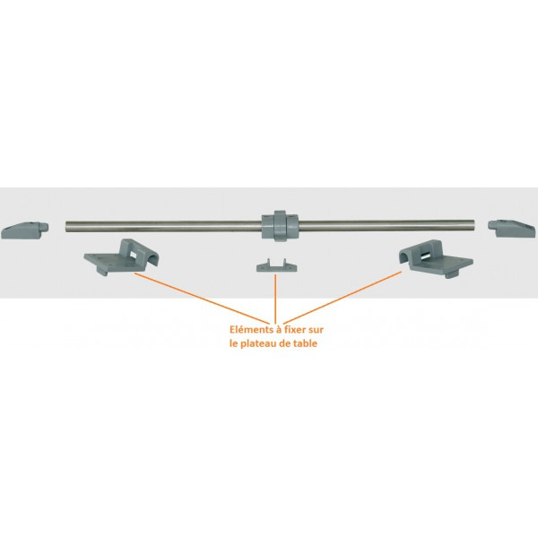 Glissi re rail de fixation plateau de table fourgon for Table exterieur pour camping car