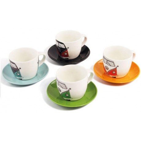 set de 4 tasses expresso motif vw combi t1 vw collection. Black Bedroom Furniture Sets. Home Design Ideas