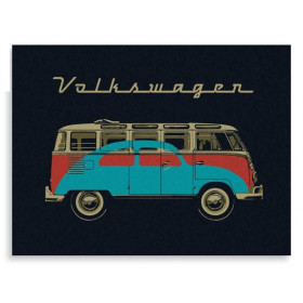 VW COLLECTION Plaide 100% laine Bulli noir