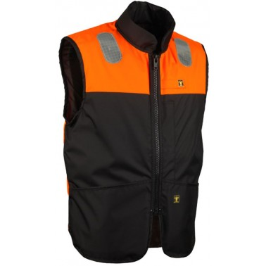 GUY COTTEN Gilet Neptune Orange et Noir
