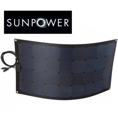 Panneau solaire souple cellules sunpower spécial bateau.