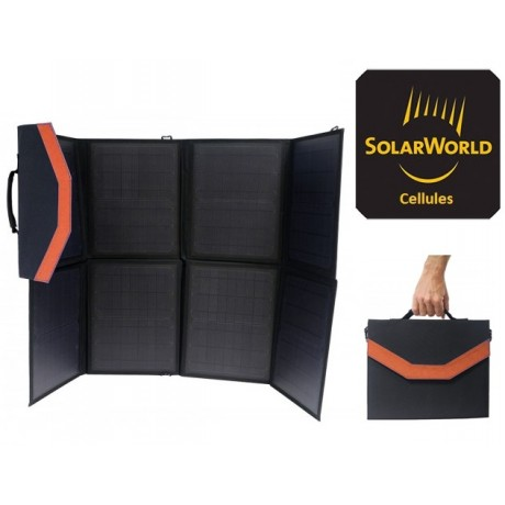 panneau solaire pliable en valise forte puissance 110w. Black Bedroom Furniture Sets. Home Design Ideas