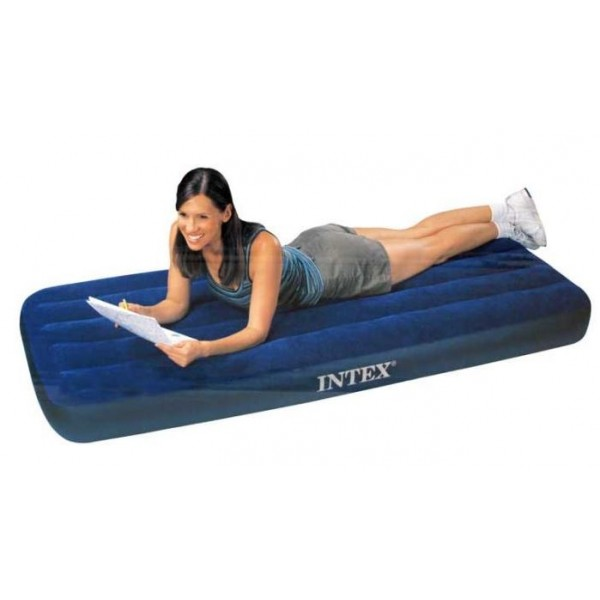 intex matelas gonflable 1 place pour le camping. Black Bedroom Furniture Sets. Home Design Ideas