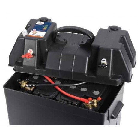 Bac a batterie transportable osculati power center for Boite a portable