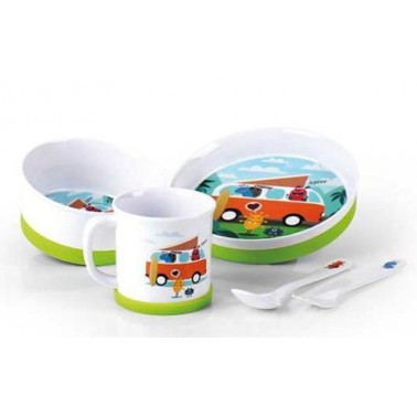 CAMP4 Set vaisselle enfant Camping-Monstre