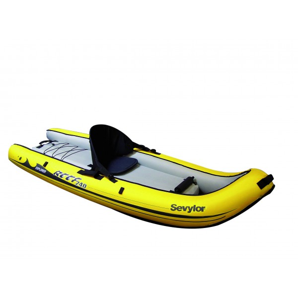sevylor reef 240 kayak gonflable 1 personne sit on top. Black Bedroom Furniture Sets. Home Design Ideas