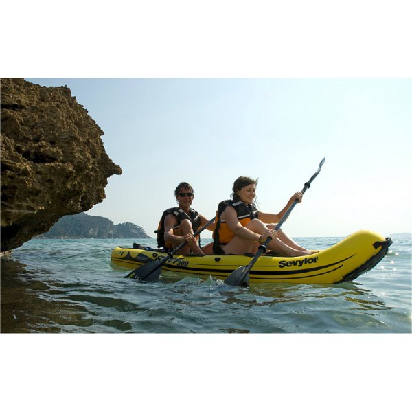 sevylor reef 300 kayak gonflable sit on top 2 personnes. Black Bedroom Furniture Sets. Home Design Ideas