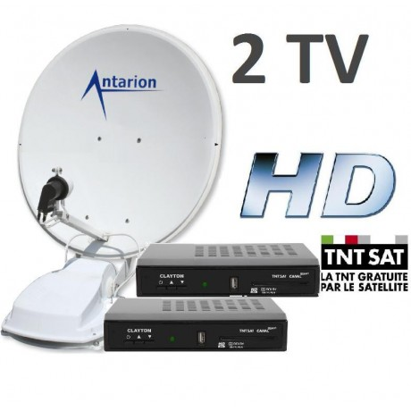 antenne satellite automatique antarion g5 twin 72 cm camping car 2 tv. Black Bedroom Furniture Sets. Home Design Ideas
