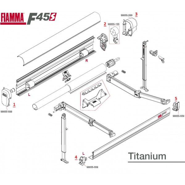 pi ces d tach es de rechange store fiamma f45 s titanium camping car. Black Bedroom Furniture Sets. Home Design Ideas